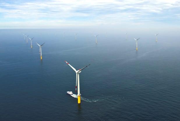 Bilanz nach sechs Monaten: 452 Millionen Kilowattstunden Ökostrom hat der Windpark erzeugt - Quelle: Trianel GmbH/Jan Oelker.