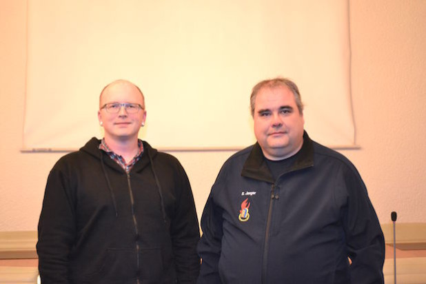 Links: Oliver Lütz, rechts: Stefan Jaeger - Foto: Natalie Meyer, Quelle: Stadt Hilchenbach