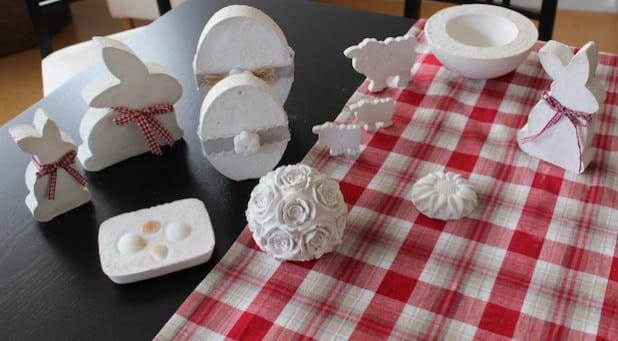 Eine kleine Auswahl aus Renate Kleins Werken, die Sie beim Attendorner Kreativmarkt präsentieren wird. - Quelle: Hansestadt Attendorn