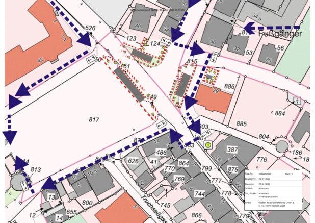 Umleitungsplan für Fußgänger - Quelle: Hansestadt Attendorn