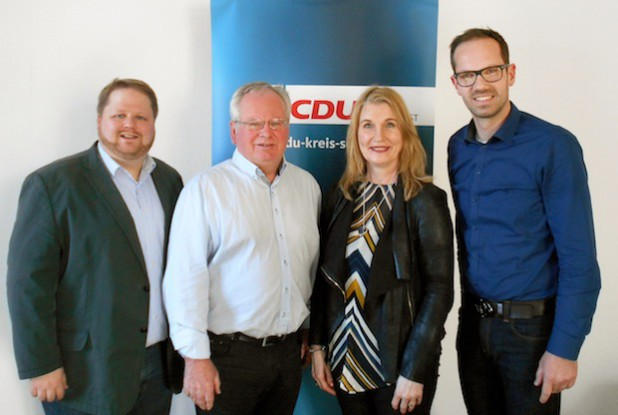 v. l. n. r.: Heinrich Frieling, Reinhard Markus, Petra Vorwerk-Rosendahl und Ansgar Mertens. Quelle: CDU im Kreis Soest