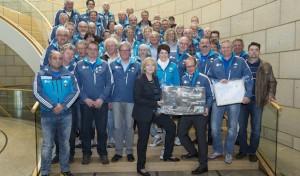 Winterberg: 60 Helfer/innen der Bob- und Skeleton-WM 2015 informieren sich auf Einladung von Ministerpräsidentin Kraft