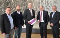 Hagen: Treffen im Landtag – ENERVIE Vorstand bei Wirtschaftsminister Duin