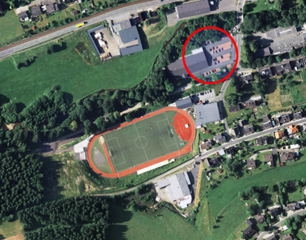 """Für die Gäste, die bereits zum Empfang geladen sind, steht die Parkfläche der Firma Kaupert, also der """"alte"""" LIDL-Parkplatz, zur Verfügung.Bild: Luftwaffe"""
