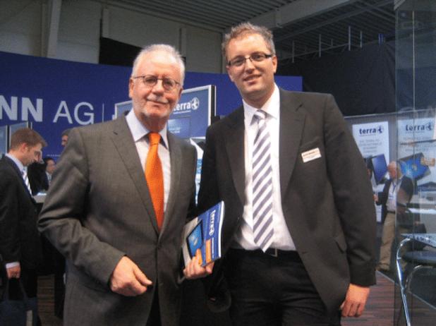 Verkaufstrainer Hans Peter Berg mit Sven Göbel von der Wortmann AG. Bild: Hans Peter Berg – BTC Berg Training Consulting