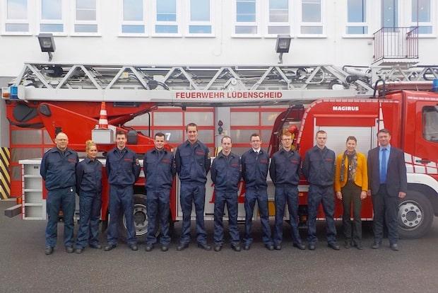 Photo of Neuer Einstellungsjahrgang in der Feuer- und Rettungswache der Stadtverwaltung Lüdenscheid