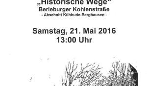 """Siegen: Exkursion """"Historische Wege"""" – Wanderung entlang der Berleburger Kohlenstraße"""