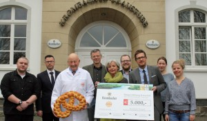 Krombacher Brauerei und Bäckerei Hesse spenden gemeinsam 5.000 Euro an die Bürgerstiftung Kreuztal