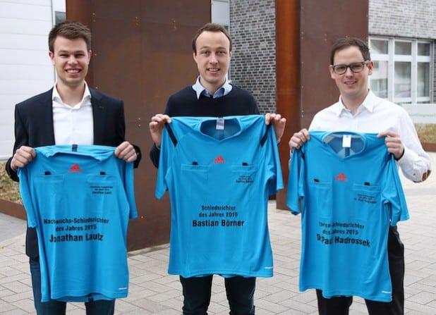 Jonathan Lautz (links), Bastian Börner (mitte), Dr. Paul Hadrossek (rechts). Bild: David Hennig