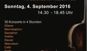 """""""DrahtSaitenAkt"""" – 10. Barendorfer Klassik-Fest am 4. September in Iserlohn"""