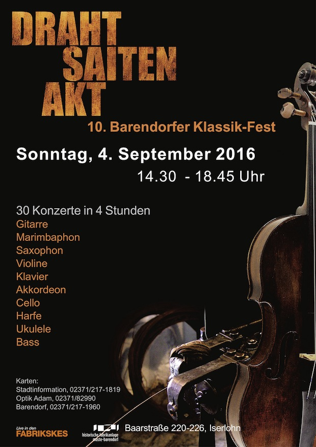 "Photo of ""DrahtSaitenAkt"" – 10. Barendorfer Klassik-Fest am 4. September in Iserlohn"