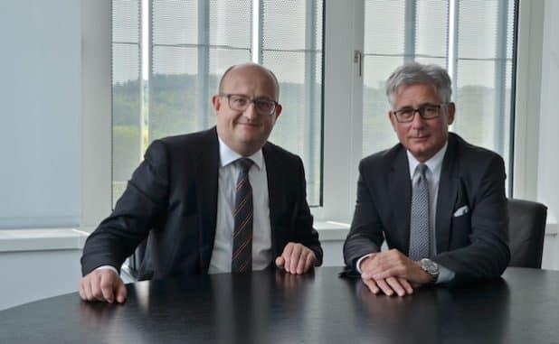 Die ENERVIE Vorstände Erik Höhne (Vorstandssprecher, links) und Wolfgang Struwe (rechts). Quelle: ENERVIE