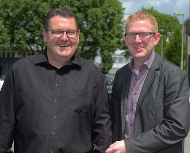 Das neue Führungsduo der IG Metall Siegen: Andree Jorgella (l.) und Tobias Tigges. Quelle: IG Metall Siegen