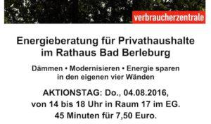Verbraucherzentrale berät Energiesparer im Rathaus Bad Berleburg