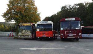 Schienenbustag im Hönnetal: Historische Omnibusse ab Hemer und Balve