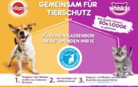 Mit Pedigree und Whiskas den Deutschen Tierschutzbund unterstützen