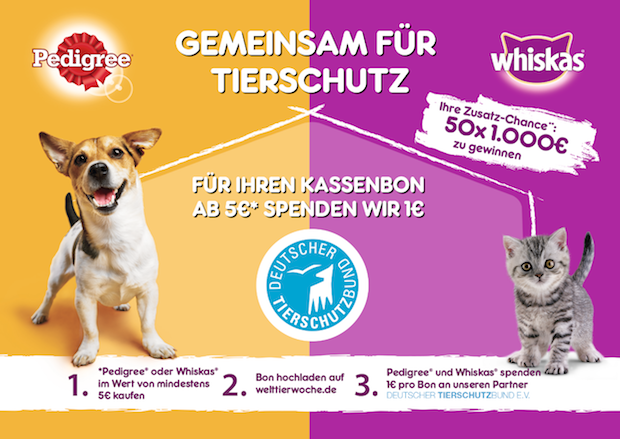 Photo of Mit Pedigree und Whiskas den Deutschen Tierschutzbund unterstützen