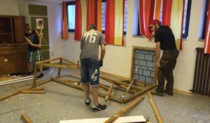Aufräumarbeiten im Gemeindehaus Geseke
