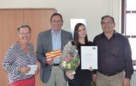 Lisann Siegfried mit gutem Ausbildungs-Abschluss bei der Stadt Hilchenbach