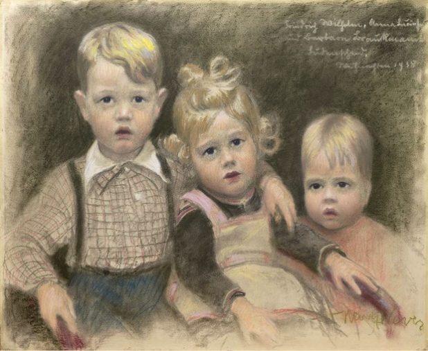 Heinz Wever, Brauckmann-Kinder, 1938, Pastell (Privatbesitz). Quelle: Stadt Lüdenscheid