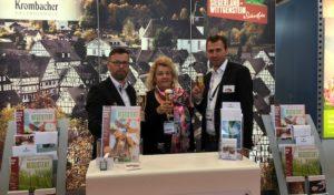 Siegen – TVSW und Krombacher präsentieren Region auf wichtigster Messe für Bus- und Gruppenreisen