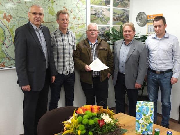 Photo of Ehrung für den Bauhofleiter der Gemeinde Ense