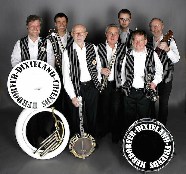 Die Herdorfer Dixieland Friends sorgen für gute Stimmung beim kommenden Jazzfrühschoppen am Museum Wilnsdorf - Quelle: Gemeinde Wilnsdorf