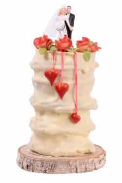 Ein Baumkuchen mit 35 bis 40 Zentimetern Höhe reicht für etwa 70 Personen. Foto: djd/Salzwedeler