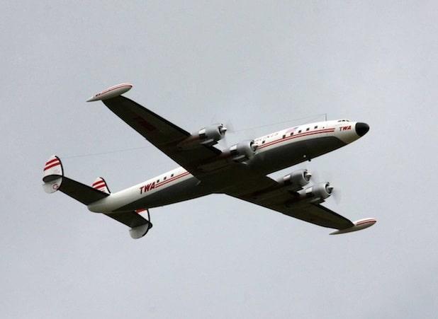 """Der Traum eines Passagierflugzeuges aus der Propeller-Ära. Aber auch diese """"Super-Connie"""" im TWA-Look war """"nur"""" ein maßstabsgerechtes Großmodell. Foto: Hans-Martin Lenz"""