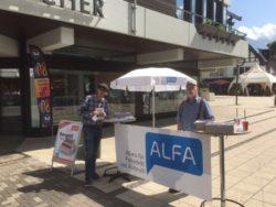ALFA im Kreis Olpe ist auf dem Stadtfest in Lennestadt mit einem Stand vertreten.
