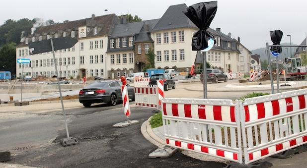 Photo of Attendorn: Fertigstellung Kreisverkehr Ennester Tor