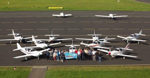 Glasair-Convention auf der Lipper Höhe: Piloten aus ganz Deutschland, aus England und Österreich waren zum Familientreffen auf den Siegerland-Flughafen gekommen. - Quelle: Sven Vollert