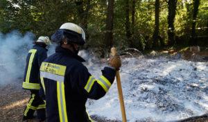 Fahrzeugbrand und kleiner Flächenbrand in Menden
