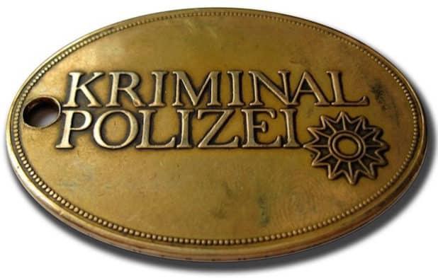 Kriminaldienstmarke (Quelle: Kreispolizeibehörde Siegen)