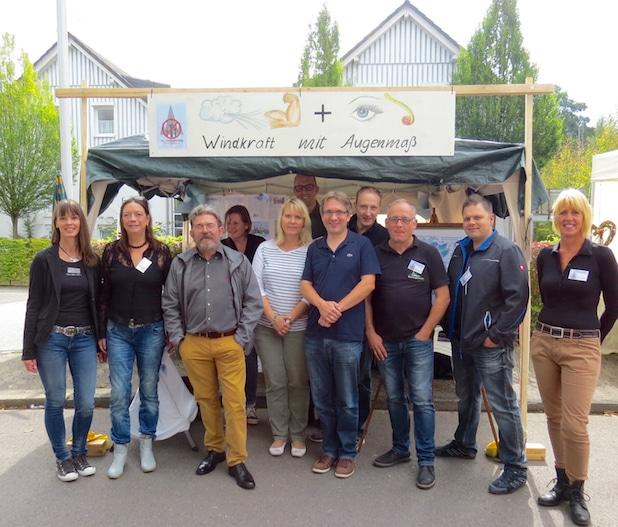 Photo of Infostand zur Windkraft auf dem Erntefest Drolshagen