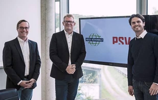 Ermitteln gemeinsam den digitalen Staus quo der Industrie in Südwestfalen: (v.l.) die Geschäftsführer Sebastian Leipold (Hees), Frank Hüttemann (Psv), Florian Leipold (Hees). Quelle: HEES