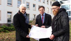Lüdenscheid: Erster Spatenstich zum Um- und Anbau der Psychiatrischen Intensivstation