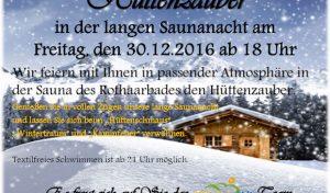Erholung im Rothaarbad kurz vor dem Jahresende gefällig?