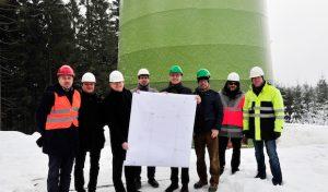 Mark-E und Stadtwerke Iserlohn: Start des Hochbaus für Windkraftanlage in Lüdenscheid