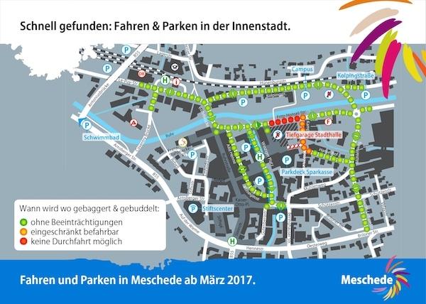 Photo of Meschede: Info-Karte bietet Überblick über Autofahren und Parken in Innenstadt