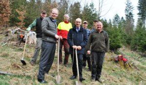 Große Aufforstung im Stadtforst: Fielmann stiftet Meschede 6.400 Bäume
