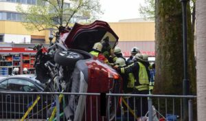 Hemer: Schwerer Verkehrsunfall in der Fußgängerzone