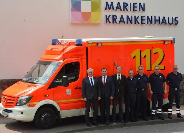 Photo of Kreis Soest hat am Marienkrankenhaus Rettungswagen stationiert