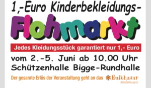 Kinderflohmarkt: Erlös geht an Balthasar Kinderhospiz