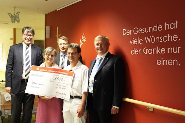 Photo of Lüdenscheid: Wir sagen Danke – 3000 Euro für den Förderverein der Palliativstation