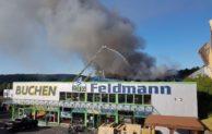 Brand des Firmengebäudes eines Zweirad- und Landmaschinenbetriebs