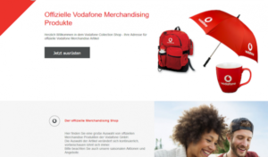 Vodafone lässt durch CosmoShop neuen B2B-Werbemittelshop realisieren