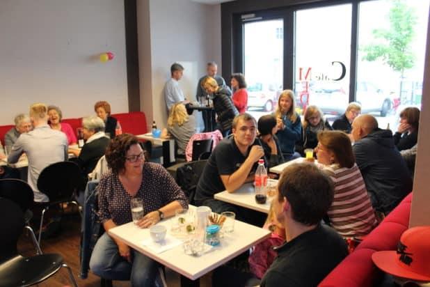 Das Team von eBody feierte in den Räumlichkeiten des Medicum Cafés