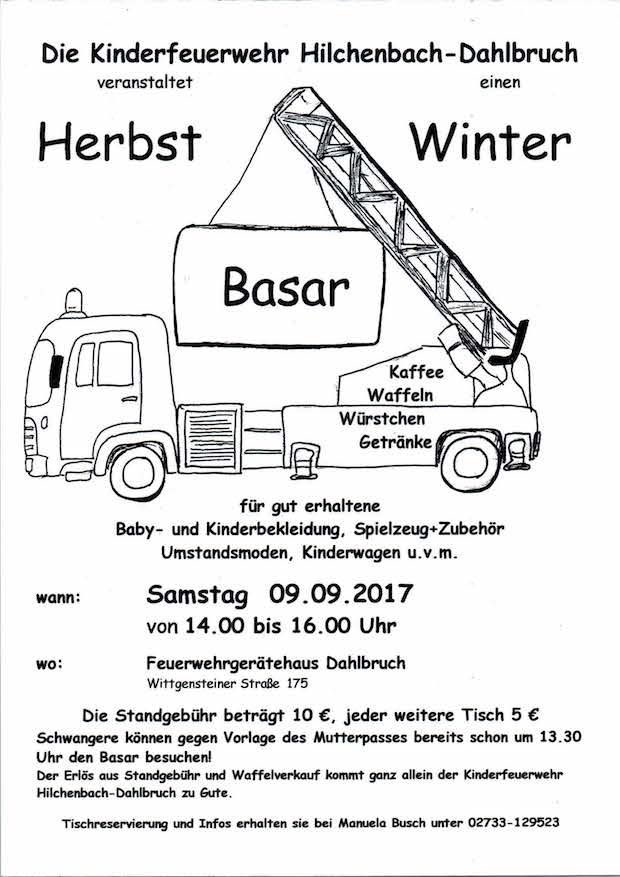Photo of Kinderfeuerwehr Hilchenbach lädt zu einem Second-Hand-BASAR ein
