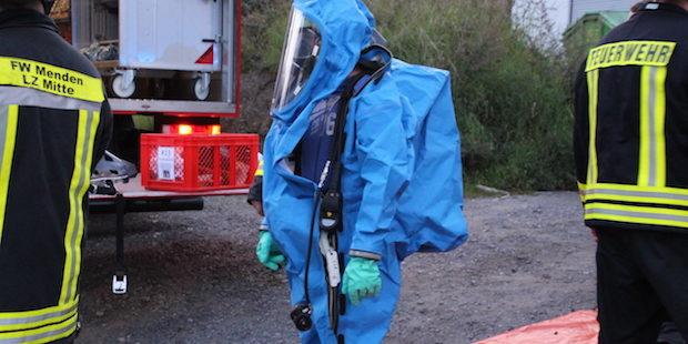 Menden – Gefahrstoff-Einsatz nach Brand am Gebäude